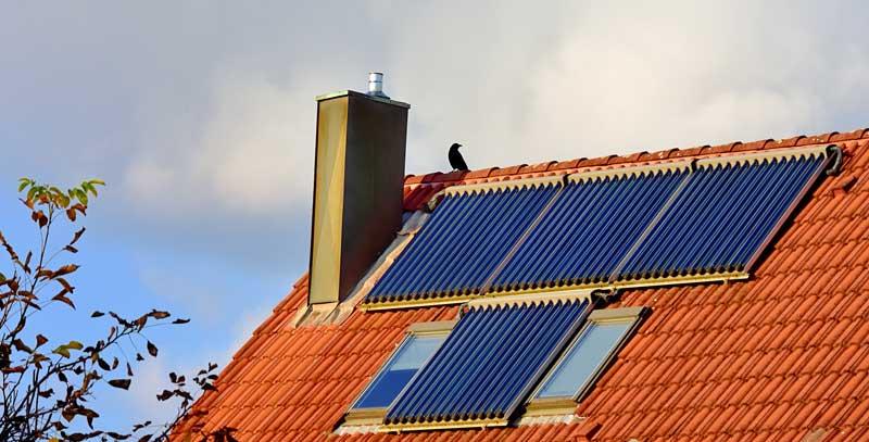 Solarthermie -Röhrenkollektoren