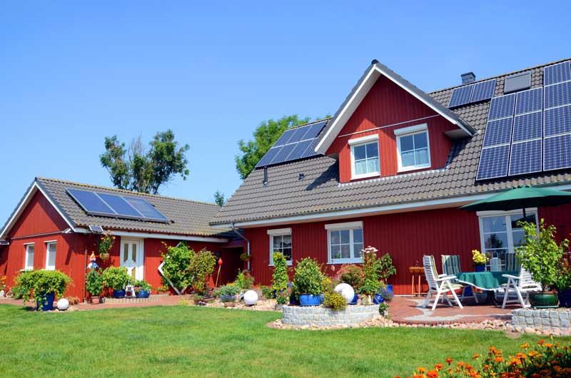 Haus mit PV Anlage